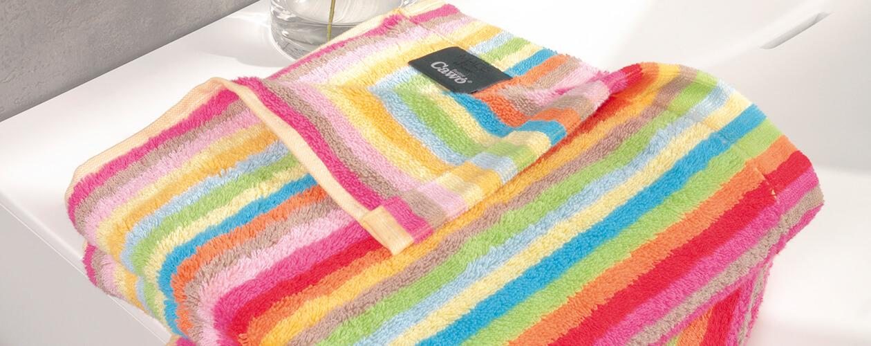 Cawö - Life Style Streifen 7008 - Farbe: 25 - multicolor Duschtuch 70x140 cm Detailbild 2