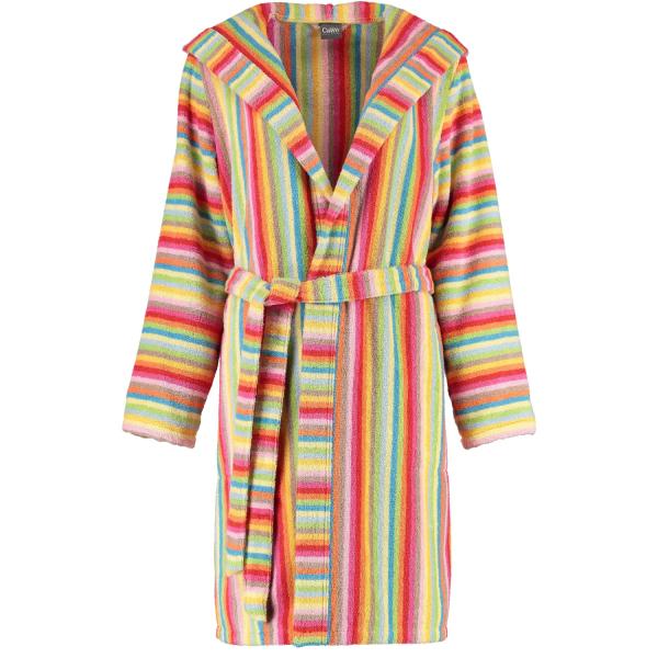 Cawö - Damen Bademantel Life Style - Kurzmantel mit Kapuze 7082 - Farbe: multicolor - 25 S