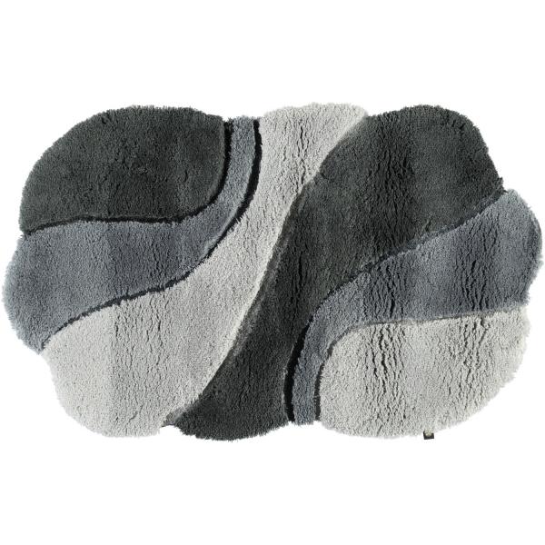 Rhomtuft - Badteppich Ambiente - Farbe: perlgrau/blei/zink - 1308 65x110 cm
