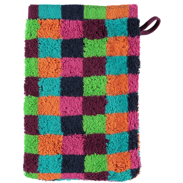Cawö - Life Style Karo 7047 - Farbe: 84 - multicolor Waschhandschuh 16x22 cm
