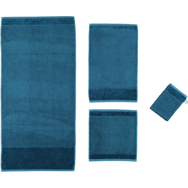 Möve - Bamboo luxe - Uni mit Veloursbordüre - Farbe: deep lake - 386 (0-8732/5201)