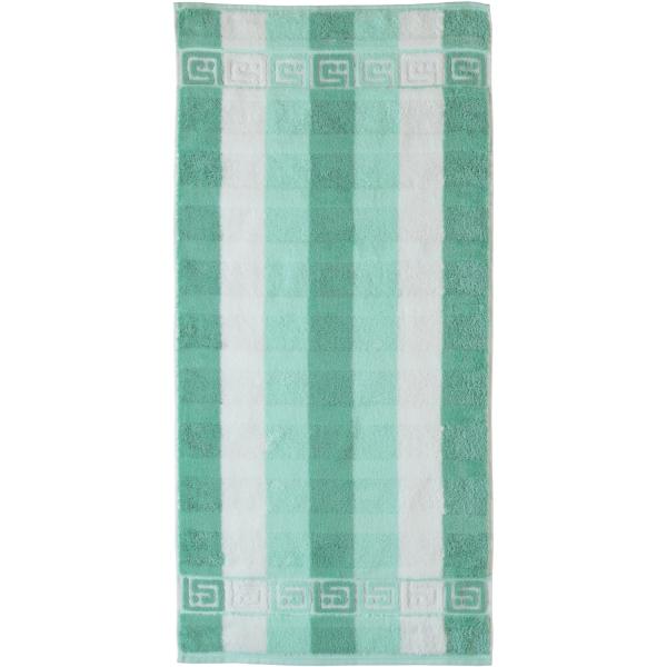 Cawö - Noblesse Blockstreifen 1011 - Farbe: 40 - grün/weiß Handtuch 50x100 cm