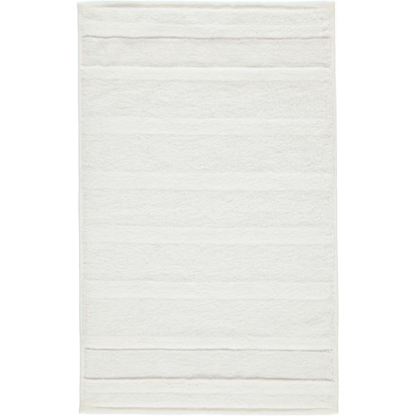 Cawö - Noblesse2 1002 - Farbe: 600 - weiß Gästetuch 30x50 cm