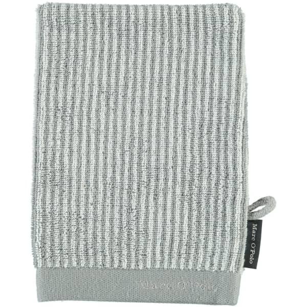 Marc o Polo Timeless Tone Stripe - Farbe: grey/white Waschhandschuh 16x21 cm