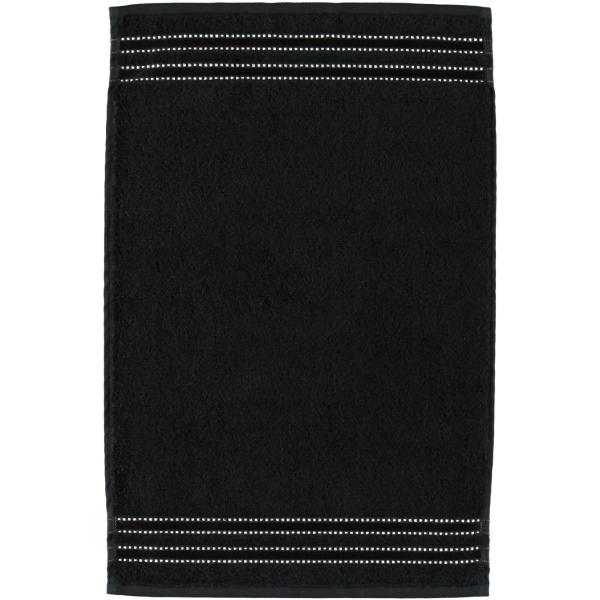 Vossen Cult de Luxe - Farbe: 790 - schwarz Gästetuch 30x50 cm