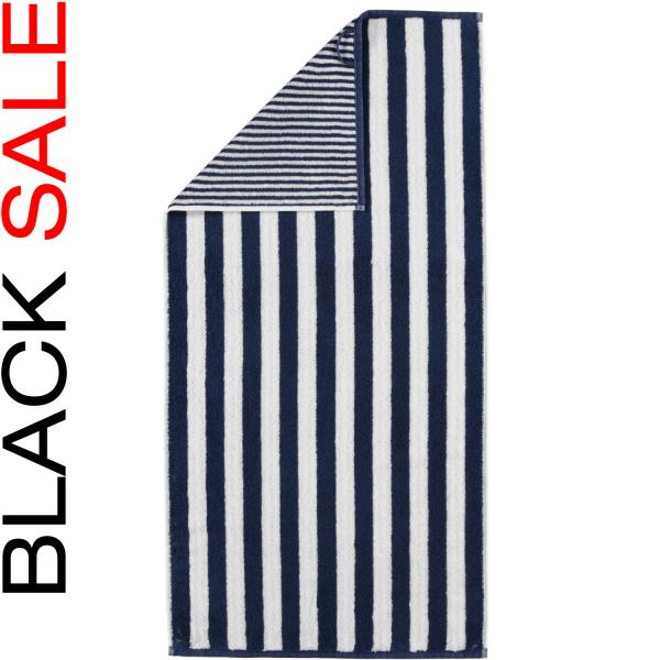 Cawö Black Sale Wendestreifen 186 - Farbe: blau - 16 Handtuch 50x100 cm