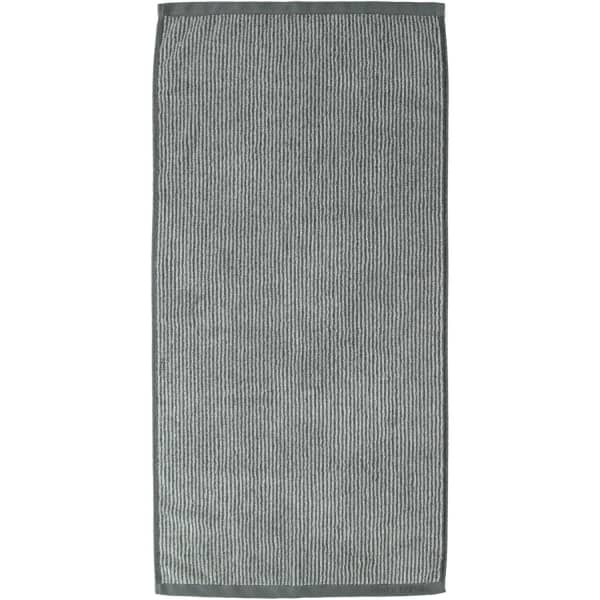 Marc o Polo Timeless Tone Stripe - Farbe: anthrazite/silver Handtuch 50x100 cm