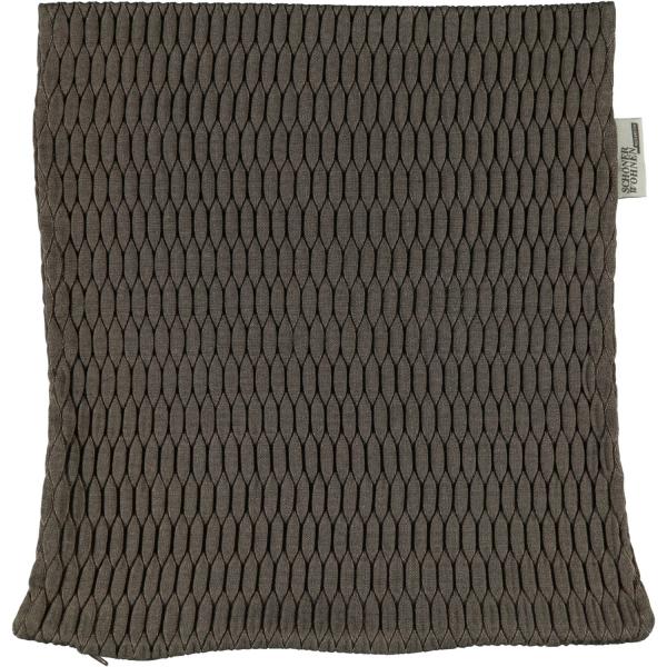 Schöner Wohnen Kissenhülle Shape - Farbe: 021 - braun (21242) 38x38 cm