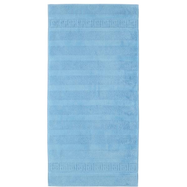 Cawö - Noblesse Uni 1001 - Farbe: 188 - mittelblau Handtuch 50x100 cm