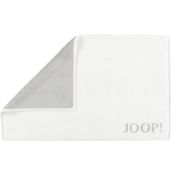 JOOP! Classic - Doubleface Badematte 1600 - 50x80 cm - Farbe: Weiß/Silber - 67