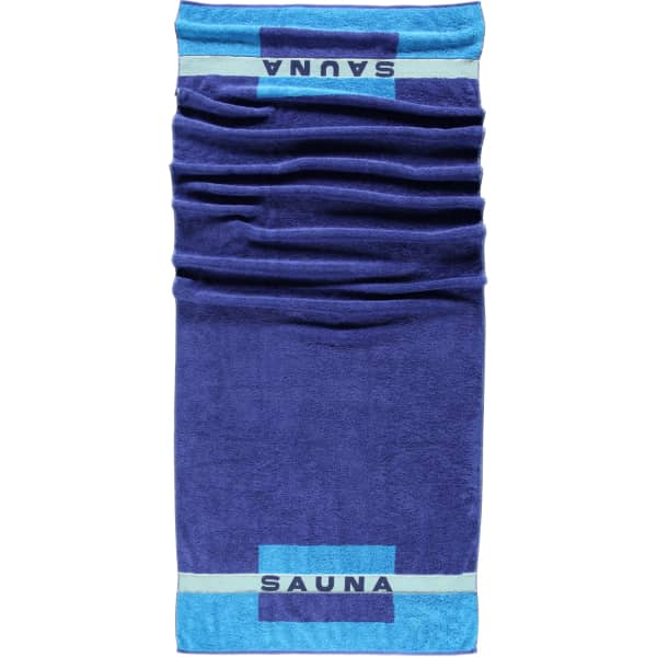 Cawö - Saunatuch 159 - 80x200 cm - Farbe: 11 - blau