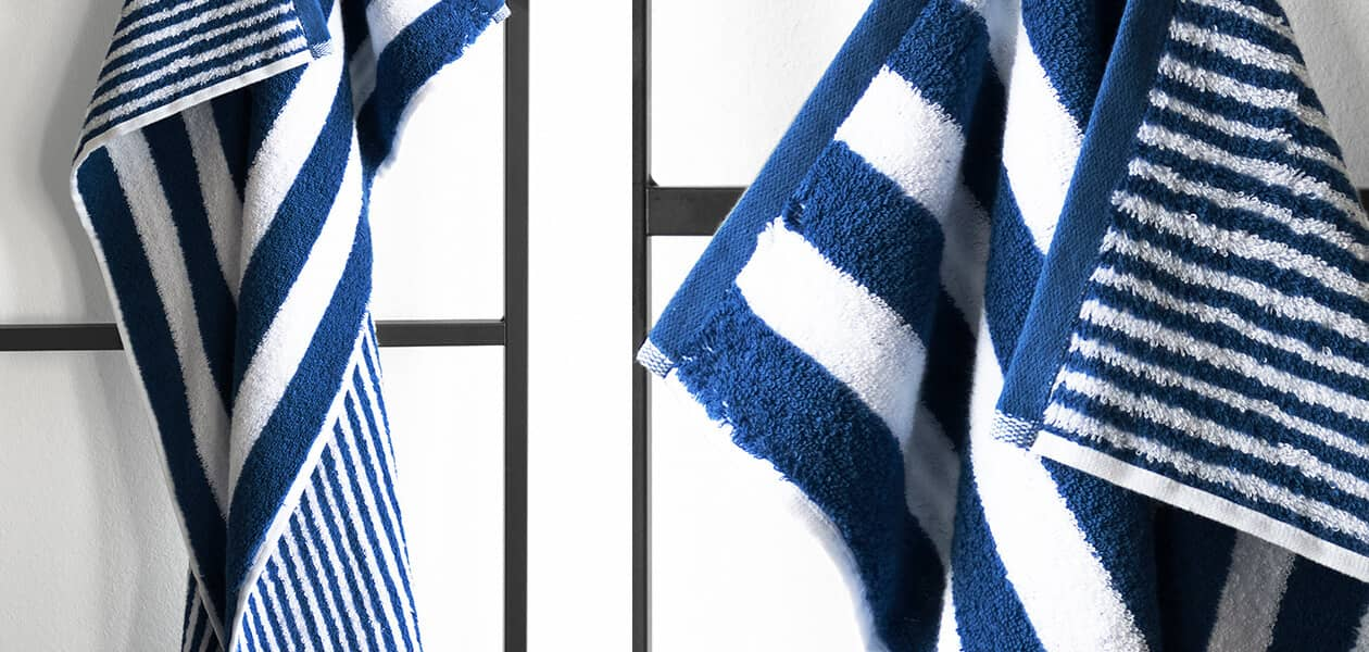 Cawö Black Sale Wendestreifen 186 - Farbe: blau - 16 Handtuch 50x100 cm Detailbild 1