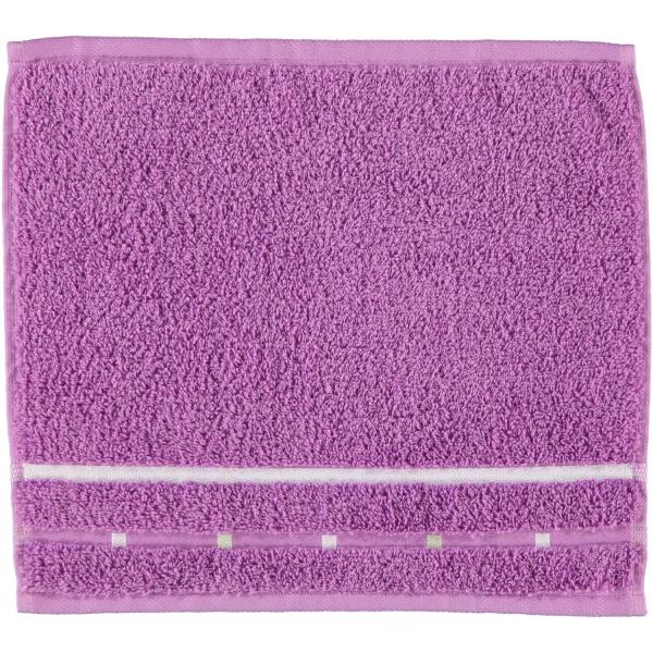 Vossen Quadrati - Farbe: violett/weiß - 028 Seiflappen 30x30 cm