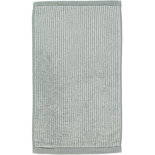 Marc o Polo Timeless Tone Stripe - Farbe: grey/white Gästetuch 30x50 cm