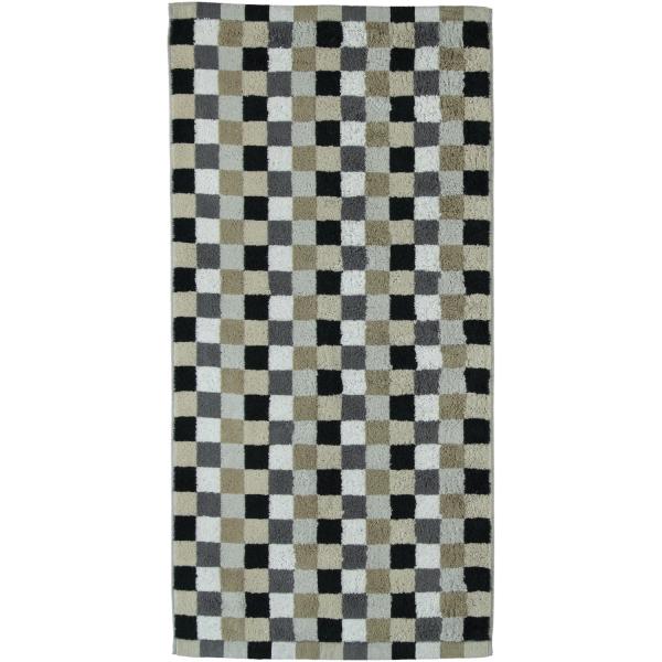 Cawö - Life Style Karo 7047 - Farbe: 37 - kiesel Handtuch 50x100 cm