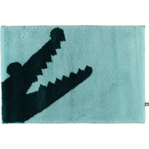 Rhomtuft - Badteppich Croc - Farbe: mint/pazifik - 1210 60x90 cm