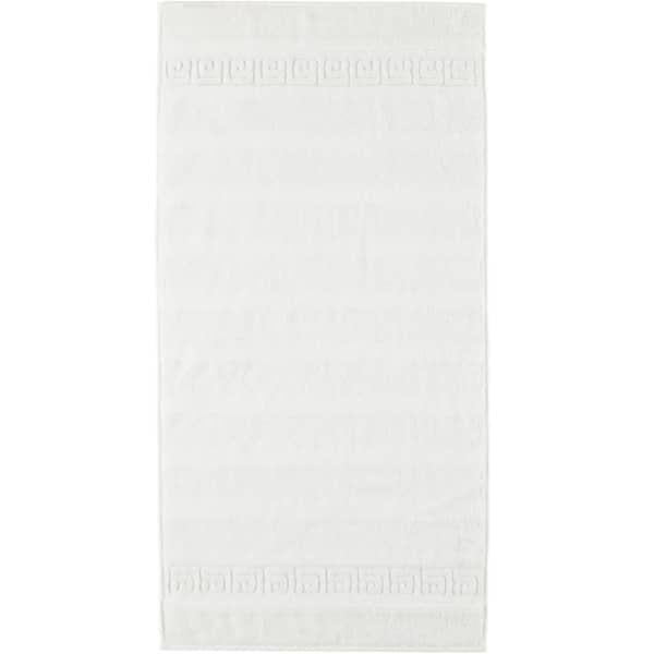 Cawö - Noblesse Uni 1001 - Farbe: 600 - weiß Handtuch 50x100 cm