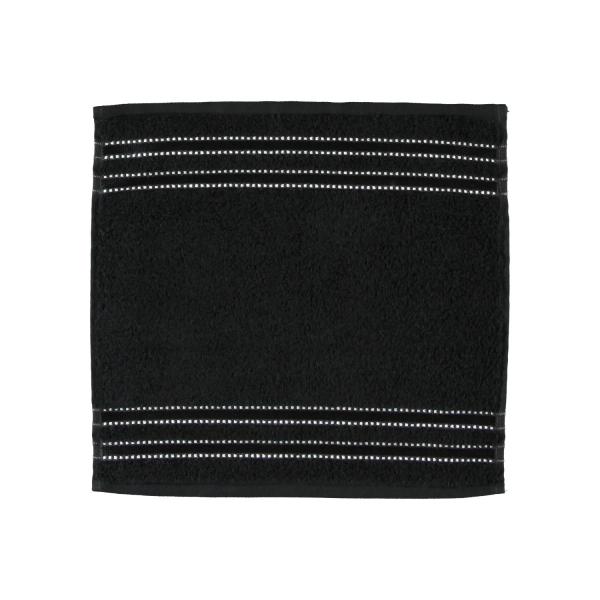 Vossen Cult de Luxe - Farbe: 790 - schwarz Seiflappen 30x30 cm