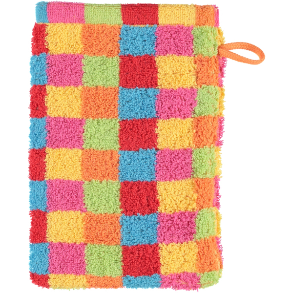 Cawö - Life Style Karo 7017 - Farbe: multicolor - 25 Waschhandschuh 16x22 cm