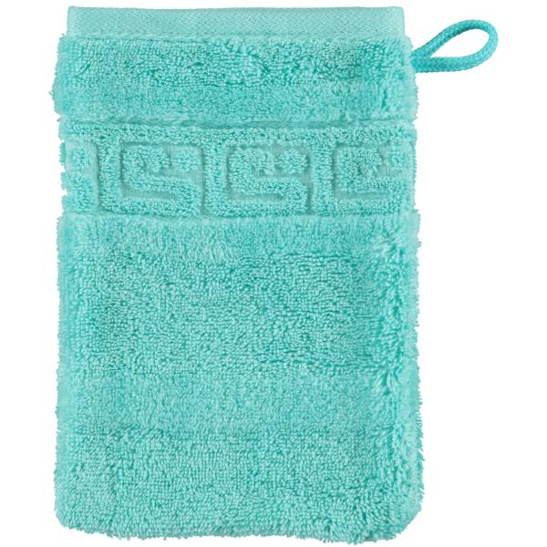 Cawö - Noblesse Uni 1001 - Farbe: 404 - mint Waschhandschuh 16x22 cm