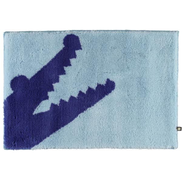 Rhomtuft - Badteppich Croc - Farbe: air/ultramarin - 1211 70x130 cm