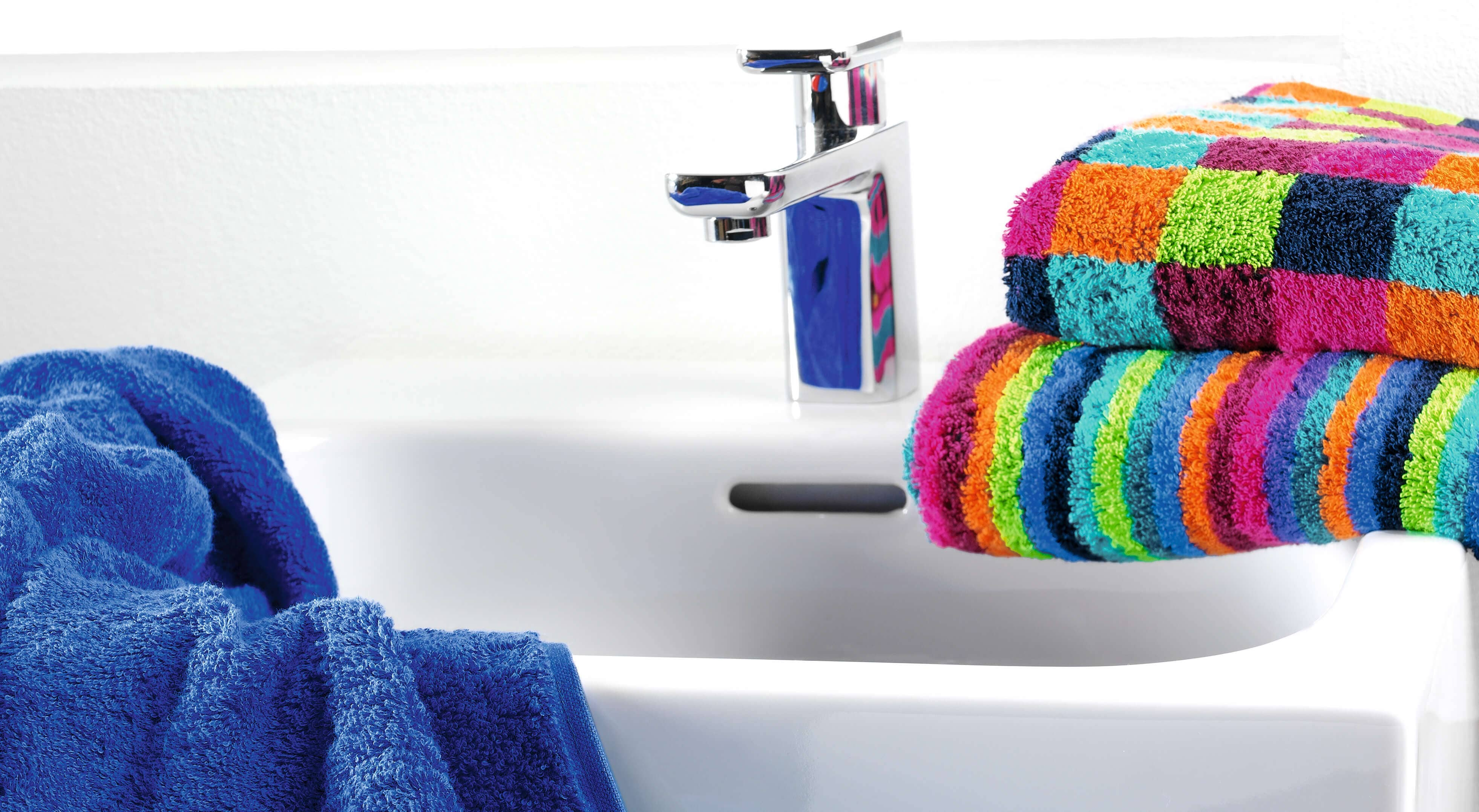 Cawö - Life Style Karo 7047 - Farbe: 84 - multicolor Waschhandschuh 16x22 cm Detailbild 2