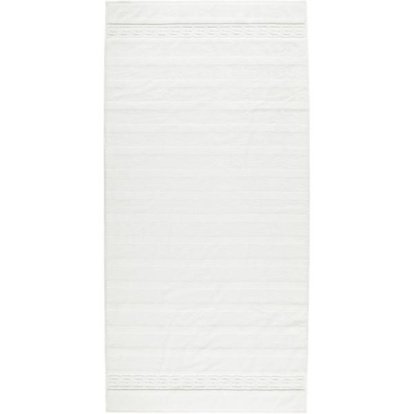 Cawö - Noblesse Uni 1001 - Farbe: 600 - weiß Duschtuch 80x160 cm