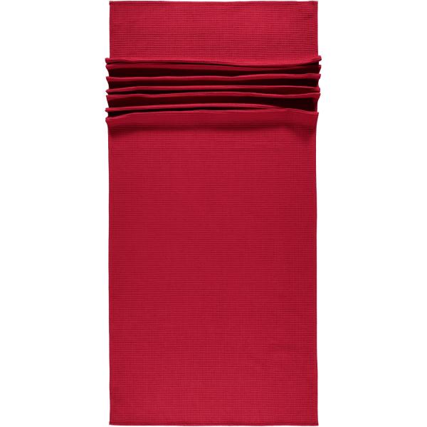 Vossen Saunatuch Pique Rom - 80x220 cm - Farbe: rubin - 390 (116729)