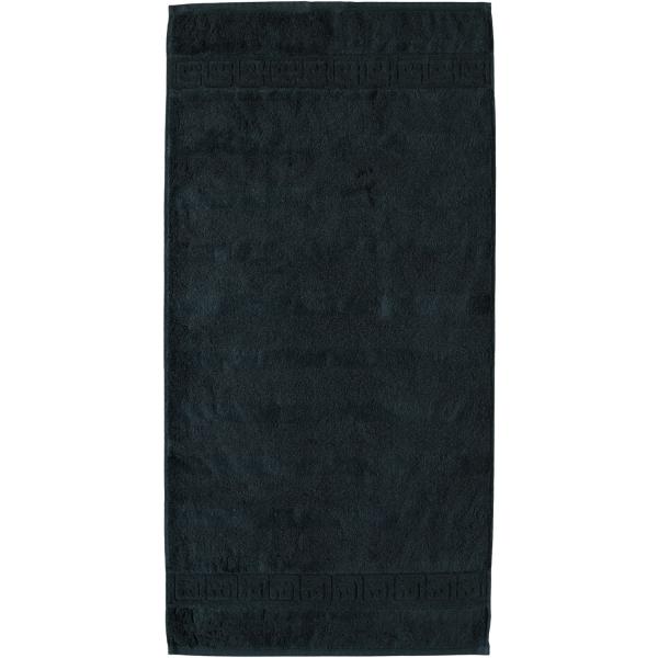 Cawö - Noblesse Uni 1001 - Farbe: 901 - schwarz Handtuch 50x100 cm